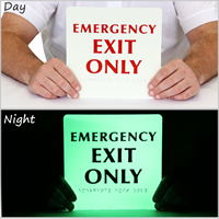 8in. x 8in. Glow TactileTouch™ Exit Sign