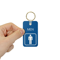 1-3/4 in. x 3 in. MEN Bathroom Keychain