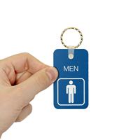 Double-Sided MEN Bathroom Keychain
