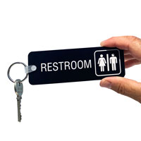 Reychain for restroom