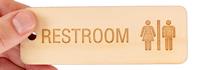 Wood Unisex Bathroom Keychain