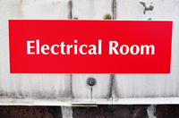 Electrical Room Engraved Signs