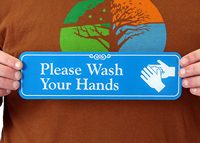Please Wash Your Hands with Graphic ShowCase™ Signs