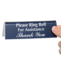 Ring Bell Office Tabletop Tent Signs