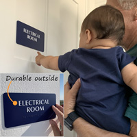 Braille electrical room sign
