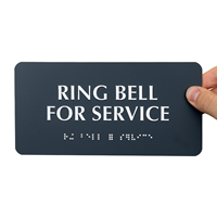 Ring Bell For Service Tactile Touch Braille Signs
