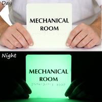 Mechanical Room Photoluminescent Sign