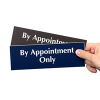 By Appointment Only Engraved Signs