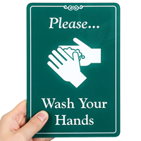 Please Wash Your Hands ShowCase Wall Signs
