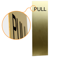 Push Pull Engraved Brass Sign Kit