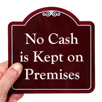 No Cash In Premises Signsature Style Showcase Signs