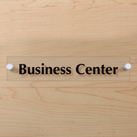 Business Center Sign