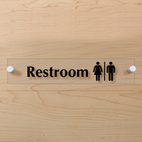 Men and Women Symbol Restroom Sign