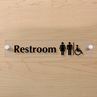 Men Women Handicap Symbol Restroom Sign