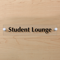 Student Lounge Sign