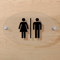 Unisex Restroom Symbol Sign