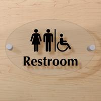 Men Women Handicap Restroom Sign