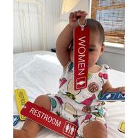 Women's room key tags