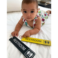 Restroom key tags