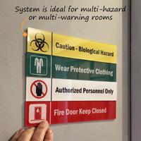 Fire Door Keep Closed Stackable Sign