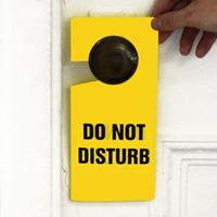 Do Not Disturb Plastic Door Knob Hanger Tags