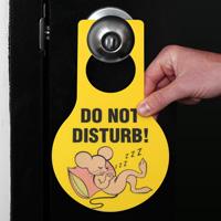 Do Not Disturb Door Hanger Tags