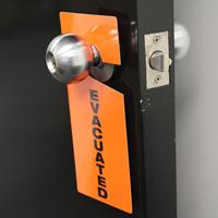 Occupied Plastic Door Knob Hanger Tag