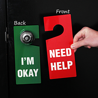 Need Help I'M Okay Door Hanger Tag