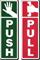 DiamondPlate™ Anodized Door Signs