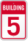 Building 5 Numbered Sign