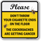Dont Throw Cigarette Ends On The Floor Sign