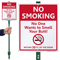 No Smoking Within 30 Feet LawnBoss Sign