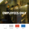 Employees Vinyl Die Cut Glass Window Decal