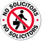 No Solicitors Glass Door Decal
