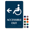 Accessible Exit with Left Arrow Braille Sign