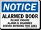Alarmed Door OSHA Notice Sign