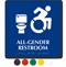 All-Gender Restroom Sign, Updated ISA, Toilet Bowl