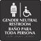 Handicap Gender Neutral Restroom Braille Sign