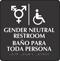 Handicap And Gender Neutral Restroom Braille Sign