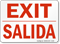 Bilingual Exit / Salida Sign