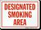 Designated Smoking Area (red text)