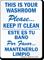 Bilingual Please Keep Washroom Clean Sign