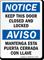 Bilingual Keep Door Closed Locked Notice Sign