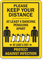 Keep Your Distance At Least 4 Dancing Penguins Apart Sign