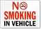 No Smoking In Vehicle (red text)