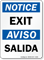 Notice Exit Aviso Salida Sign