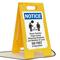 NOTICE: Please Practice Social Distancing Standards FloorBoss XL™ Floor Sign