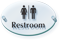 Men and Women Symbol Restroom ClearBoss Sign