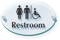 Men Women Handicap Symbol Restroom ClearBoss Sign
