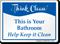 Help Keep Your Bathroom Clean Sign